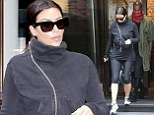 Kim Kardashian sports all-black gym gear as she joins Kanye West for ANOTHER pre-wedding workout in Paris