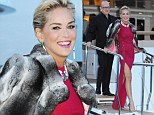The 53-year-old Basic Instinct star turned more than one head in a red dress split to the thigh at the 67th Cannes Film Festival.