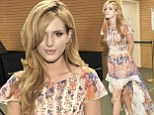 Bella Thorne is pretty as a picture in flowing mullet style floral dress as she signs copies of Seventeen cover