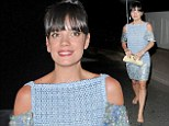 Stand out look: Lily Allen attended the star-studded Vanity Party in Cannes on Tuesday night in a knitted Chanel minidress featuring sequins