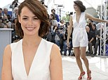 Berenice Bejo shows off her lithe physique in stylish white playsuit as she attends The Search photocall at Cannes Film Festival