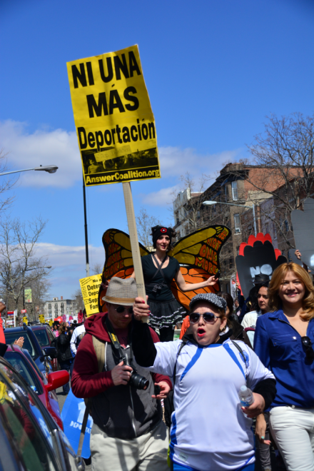 "A Patriotic Reader Reports On The ""Not One More Deportation!"" Rally Near The White House"