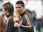 Thumbs up: Cristiano Ronaldo is expected to be fit for Real Madrid's Champions League final showdown
