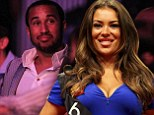 Relaxing: Andros Townsend was at the O2 Arena on Thursday night for the Premier League darts