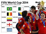 World Cup sweepstake kit for Brazil 2014