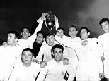 Real Madrid celebrate with the European Cup after beating Eintracht Frankfurt 7-3 in the 1960 final at Hampden Park