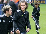 One Direction play chawrity football match