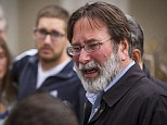 Distraught: Richard Martinez, father of Christopher Martinez, who was shot at University of California, Santa Barbara, breaks down in tears as he talks to the media at the Santa Barbara Sheriff Headquarters, Saturday, May 24, 2014, in Santa Barbara, California