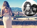 'And they lived happily ever after': Khloe Kardashian cuts a lonely figure in Instagram shot taken from Fort Belvedere after Kimye nuptials