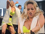 She became known for her raunchy moves in the Pussycat Dolls. And Kimberly Wyatt certainly set the night on fire as she performed at Birmingham Pride.