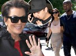 Kris Jenner is 'beyond bursting with happiness' over 'new son' Kanye West as rapper marries Kim Kardashian... while son Rob flies home alone
