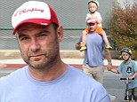 Hanging with dad! Actor Liev Schreiber and his little monkeys ditch Naomi Watts for a boys dad out
