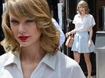 Always looking her best: Taylor Swift made sure to spruce up prior to leaving the gym in Soho, New York City on Saturday