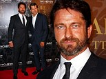 Star guest: Gerard Butler arrives at the Mother Of All Balls at Sydney Town Hall on Saturday night