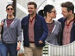 Sarah Silverman and Michael Sheen share the look of love as they pack on the PDAs during romantic breakfast