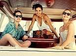 Hey sailor! Victoria's Secret Angels Doutzen Kroes, Adriana Lima, and Candice Swanepoel cruise the Hamptons in a yacht