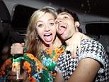 Worse for wear: Tom Parker and Kelsey Hardwick leave Sugar Hut nightclub in Brentwood, Essex