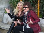 It's been a year since he left his band of 30 years. But Richie Sambora was keeping busy as he promoted his fashion range with designer Nikki Lund.