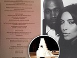 How the Kardashian-Wests eat: SEVEN-tier wedding cake and delectable Tuscan menu from Kimye's extravagant nuptials