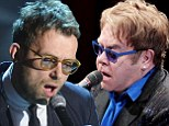 Blur-ring into one! Damon Albarn bears striking resemblance to Elton John as he performs at the piano on Italian chat show Che Tempo che fa