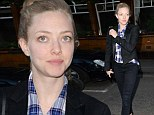 Amanda Seyfried dresses down as she goes make-up free to dinner in London Saturday