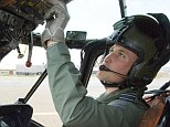 Misses flying: The Duke of Cambridge, Prince William at the controls of his Sea King helicopter, after he qualified as an operational search and rescue captain