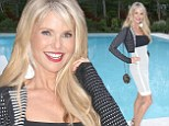 Christie Brinkley, 60, looks gorgeous at Hamptons bash and reveals she 'can't live without hair extensions'