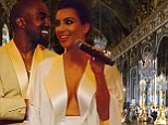 Kim and Kanye in the Hall of Mirrors