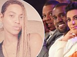 The ultimate snub! Jay Z skips Kim Kardashian and Kanye West's wedding, as Beyonce posts make-up free selfie to rub it in