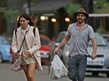 Caught in the breeze: After the pair were spotted shopping for groceries in her local supermarket last week, Eliza revealed that things had gotten serious with her handsome pal