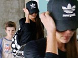 Dedicated: Victoria Beckham took her son Cruz to SoulCycle in Los Angeles, California on Saturday
