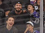 David Beckham and his boys watch LA Kings hockey game as Victoria indulges in Memorial Day cupcakes