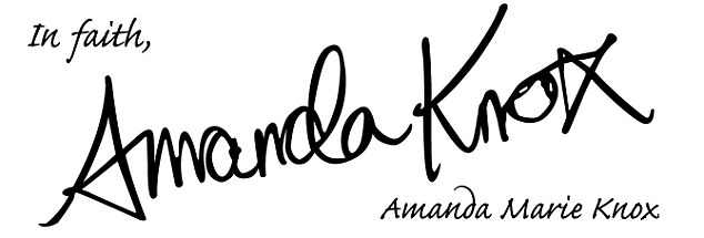 Signature: Amanda Knox had her lawyers read the letter to the court, but it was deemed inadmissable