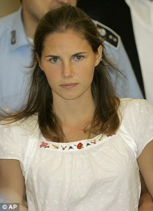 'Injustices': Amanda Knox, pictured at the time of the investigations, has attacked the way the prosecution behaved, saying they are afraid of admitting the made mistakes