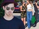 Joe Jonas and girlfriend Blanda Eggenschwiler bump into Cara Santana while on an afternoon stroll