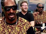 'HBO should put that on before every episode!' Snoop Dogg and Seth Rogen smoke 'cigarettes' and hilariously recap Game Of Thrones