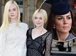 They're real life princesses! Elle and Dakota Fanning are long-lost cousins of Kate Middleton, ancestry researchers claim