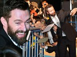 Hugh Jackman is mobbed by fans in Japan as he promotes smash hit X-Men: Days Of Future Past