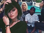 Pals: Kylie Jenner rejoiced in immediately reuniting with her friends upon returning home to Los Angeles after attending Kim's Florence wedding