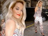 Shine Ya City of Light! Rita Ora is a work of art in a colourful, Picasso-like trouser suit in Paris