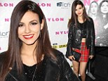 Scantily-clad: Victoria Justice showed skin as she attended Nylon x Aloft Hotels Celebrate The Music Issue in Los Angeles, California Monday