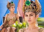 EXCLUSIVE: She's a Goddess! French actress Elodie Yung slips into sexy sheer gold bodysuit to co-star opposite Gerard Butler in new film God's Of Egypt