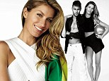Showing her patriotism! Gisele Bundchen shows off long legs as she poses with soccer star Neymar on Vogue Brazil cover ahead of World Cup