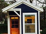 Welcome home: This is 14-year-old Sicily Kolbeck's finished 128-sqaure-foot home, complete with a bedroom, kitchen and bathroom