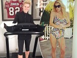 Slim Jessica Simpson amps up usual workout to include 'six miles a day' on treadmill to prepare for July 4th wedding