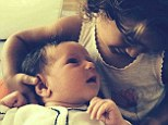 Sister act:  Emma Heming-Willis shared an Instagram photo on Tuesday of new baby Evelyn with her older sister Mabel