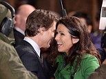 Flirty pair: Susana Reid seemed to be having a very friendly chat with Tom Cruise at the ridiculously early 6.45am premiere of his new film, Edge Of Tomorrow