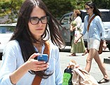 Making lace look racy: Fast & Furious star Jordana Brewster steps out in thigh skimming broderie anglaise shorts for shopping trip in LA