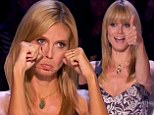 Sad face: Heidi Klum made a sad face on Tuesday night's premiere of America's Got Talent as a mime was rejected by the judges