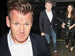 Down with the kids! Gordon Ramsay displays new slicked back hair 'do during night out with wife Tana at Chiltern Firehouse